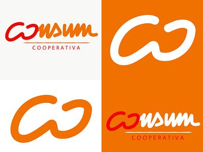 New logo for Consum handwriting supermarket rebranding logotype logo design logo branding vector illustration minimal graphic design design art