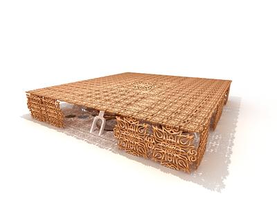21st century Marketplace market copper modern 3d architecture render vector illustration minimal graphic design design art