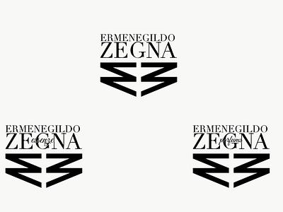 New Logo and Logotype for Ermenegildo Zegna monogram rebranding style italian black and white fashion logo branding vector illustration minimal graphic design design art