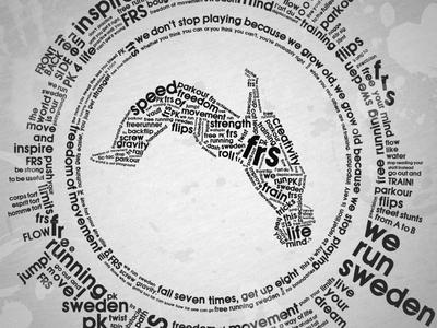 We Run Sweden t-shirt parkour typography shirt type design illustration text brand lettering street logo