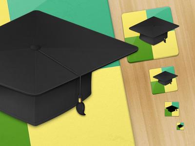 Ludu app icon mac icon app 512 graduation academic cap hat education wood
