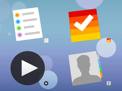 Sevenesque Vol. 2 quicktime ios 7 flat mac icons clear set matte reminders ios7 replacement