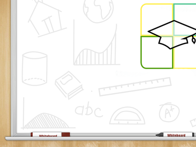 Whiteboard whiteboard ludu education wood writing school pen