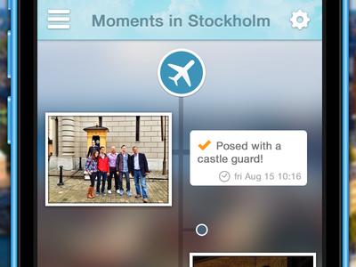 Moments in Stockholm tourist app ios 7 ios7 timeline blur city trip