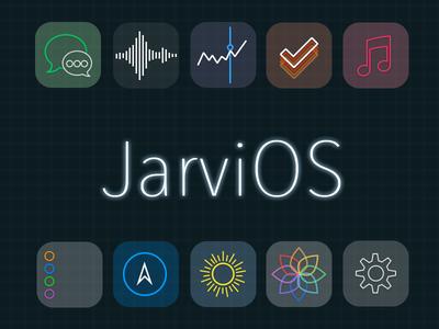 JarviOS - An Iron Man inspired iOS theme ios 7 ios7 theme winterboard jailbreak icons transparent