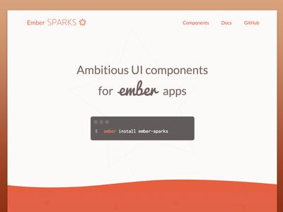Ember Sparks framework bash code presentation landing ember web