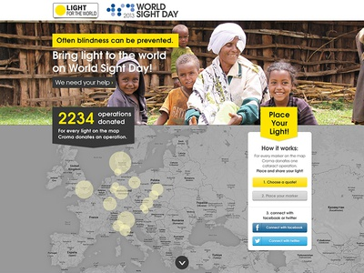 Worldsightday Dribble websafe font yellow web design ui responsive 16-colomn grid.