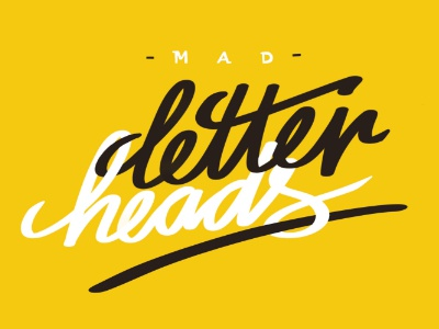 Mad Letter Heads lettering