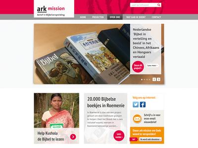 Ark Mission Homepage V2b ark mission ui style-tile webdesign homepage.