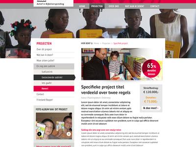 Ark Mission Projectpagina V2 Met Teller ark mission ui style-tile webdesign projectpage.