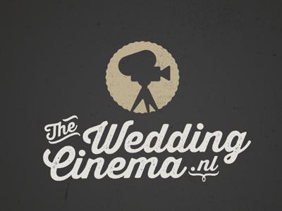 The Wedding Cinema V2 logo camera grunge vintage logodesign wedding logotype