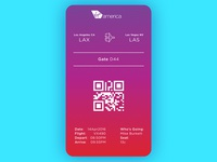Daily UI challenge #024 — Boarding Pass