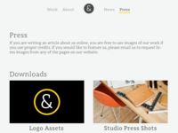Daily UI challenge #051 — Press Page