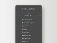 Daily UI challenge #069 — Trending