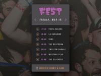 Daily UI challenge #71 — Schedule