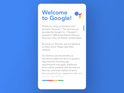 Daily UI challenge #89 — Terms of Service dailyui