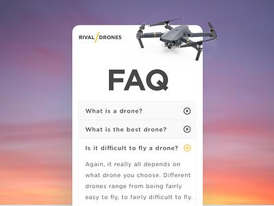 Daily UI challenge #92 — FAQ dailyui