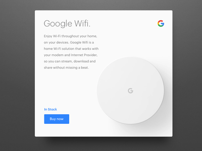 Daily UI challenge #96 —Currently In Stock dailyui