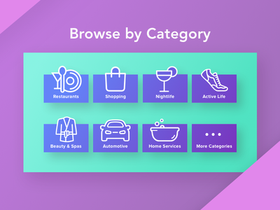 Daily UI challenge #99 — Categories dailyui