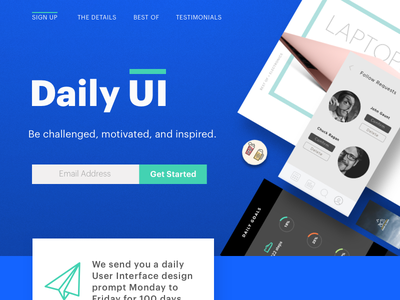 Daily UI challenge 💯 — Redesign Daily UI Landing Page dailyui