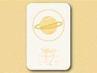 Space Cards Series (3/9) - Saturn