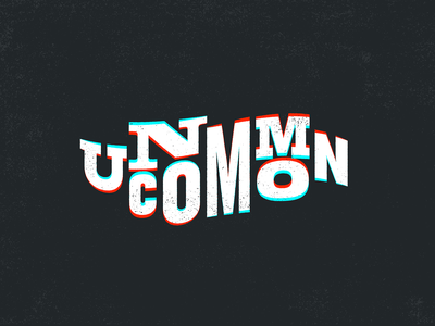 Uncommon Lettering texture grit grunge type wave glitch letters design branding illustration typography lettering