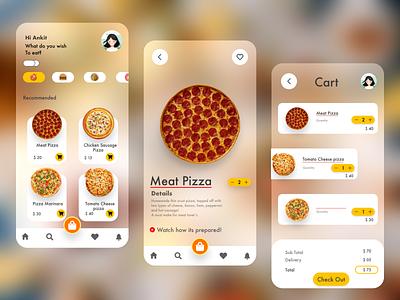 Food Ordering App ux vector logo date illustration design ui graphic design branding app