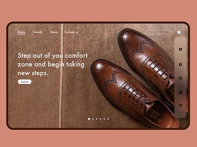 Shoe shopping web Design ux vector logo 3d animation date illustration design ui graphic design branding app