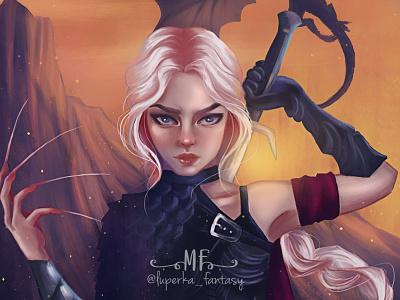 Manon Blackbeak, TOG animation illustration art fanart fantasyart digital illustrator digital painting digitalart illustration