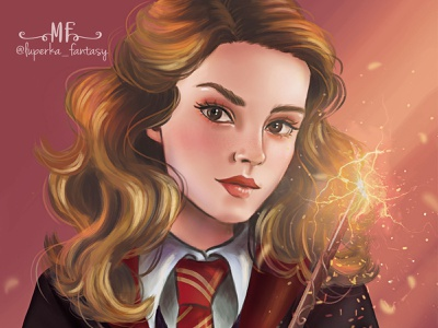 Hermione adobe photoshop harry potter character illustration concept art character design illustration art illustration fantasy art digital painting digital illustrator fantasyart