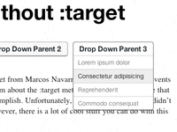 Pure CSS Clickable Events Without :target