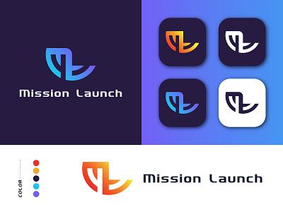 M+L word mark Logo Design logo ideas vector logo concept illustration graphic design design company business branding logo