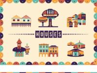 Postcards houses