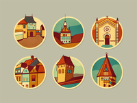 Schäsbrich/Schäßburg - icons