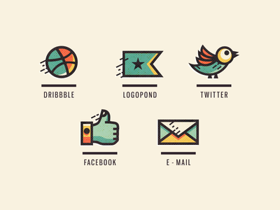 Adline Icons icon design adline brassai szende icon personal social mail web personalized social icons
