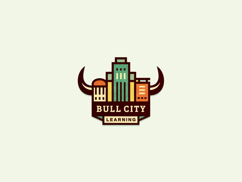 Bull City Learning (unused) adline brassai durham szende logo city bull building online