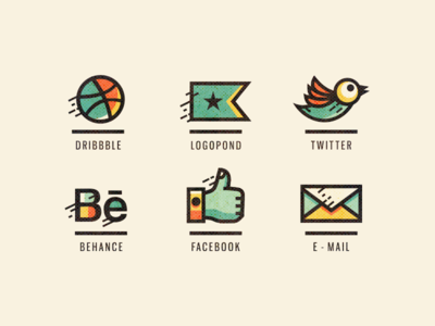 Adline / Social icons (Retouched)
