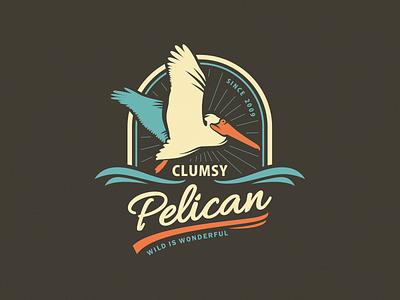 Clumsy Pelican [wip] bird logo design logo adline brassai szende pelican nature clumsy wildlife wild endangered animals