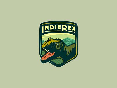 IndieRex  [ #1 - WIP] adline brassai szende logo brading badge rex t-rex games emblem