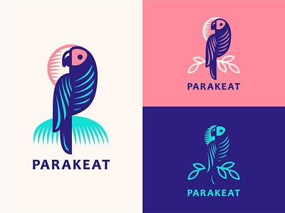 Parakeat [concept #2] adline logo design branding brassai leaf nature bird parakeet