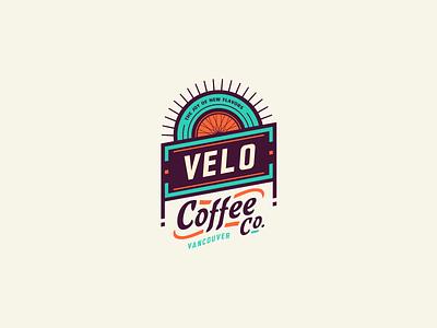 Velo Coffee Co. adline brassai szende branding coffee vancouver active cyclists adventurous gear badge bike