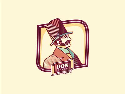 Don Snack [version -  #2] corrugate chromoluminarism radiaton adline brassai szende mascot don snack emblem gentleman