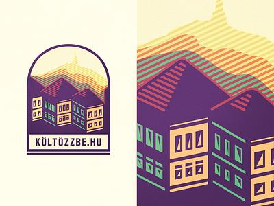 Költözzbe.hu [concept  #2 - wip] chromoluminarism corrugate radiaton primary adline brassai szende house find map emblem badge