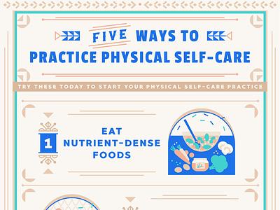 Physical Self-Care (Infographic Design) infographic design illustration brassai