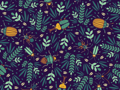 Pattern Retouched adline brassai bug beetle insect pattern nature print