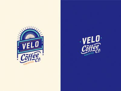 Velo Coffee Co. adline brassai logo branding emblem velo coffee