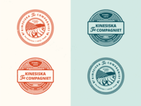 """Stamp Concepts for """"Kinesiska Te Compagniet"""""""