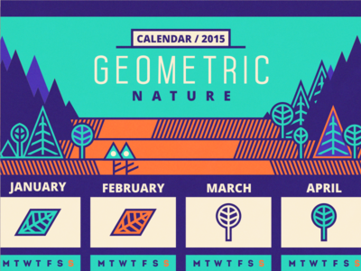 Calendar / 2015 [wip] adline brassai geometric nature print leaf tree calendar print design