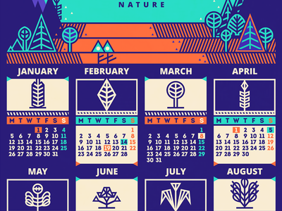 Calendar / 2015 [final version] adline brassai calendar 2015 geometric nature month week day holiday vector