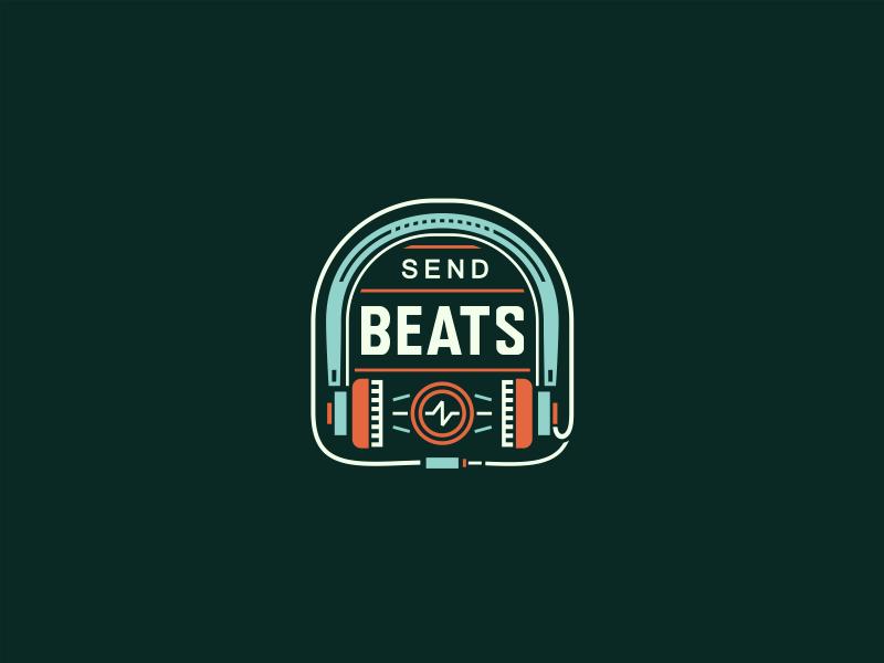 SendBeats adline brassai logo icon music electronic beat sound badge emblem